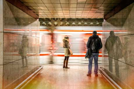 Prague Subway by Lillis Werder
