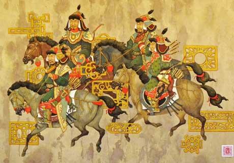 Four Warriors by Dasher Ayush