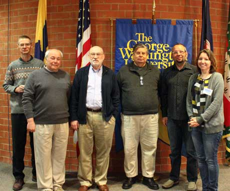 Briscoe with other physics faculty
