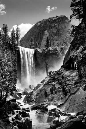 Vernal Falls at Yosemite by Frank Lee Ruggles