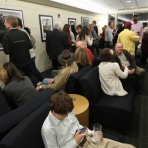 Guests at the Frank Ruggles opening reception