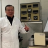 Prof. Hsu with the friction machine