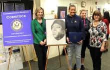 Congressional Art show winner with Comstock