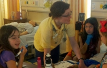 Local Girl Scouts receive first aid training from nursing students