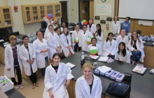 Go Girls Program Participants in the Lab