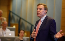 Warner at NVTC event at GW talks about cybersecurity