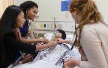 Envision participants in a School of Nursing Simulation Lab