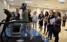 Miller at VSTC in Exercise Science lab