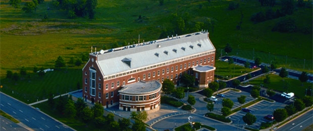 Aerial view of Exploration Hall